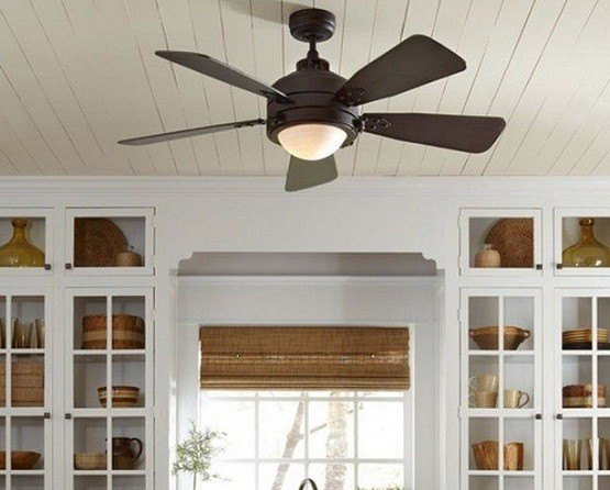 Black finish rustic ceiling fans with lights