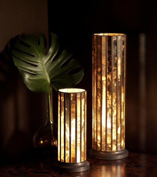Decorative battery operated table lamps