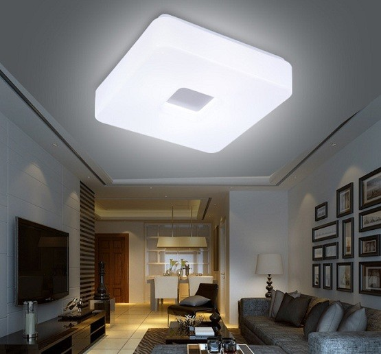Led surface mount ceiling lights with square shape model