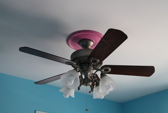Rustic ceiling fans with four lights