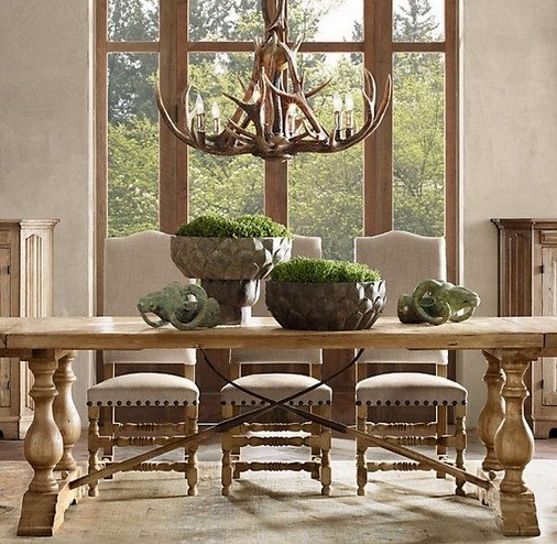 Rustic lighting for dining room decorating ideas home for Restoration hardware dining room ideas