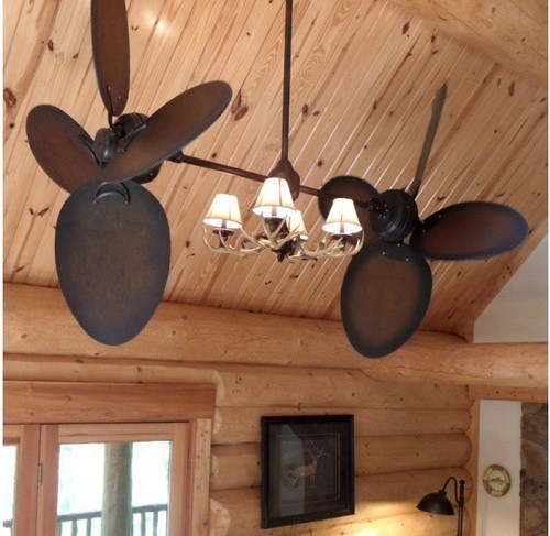 Western Style Ceiling Light Fixtures: Rustic Ceiling Fans With Lights For Functionality And