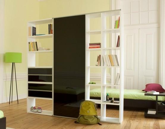 Cool contemporary portable shelves units design
