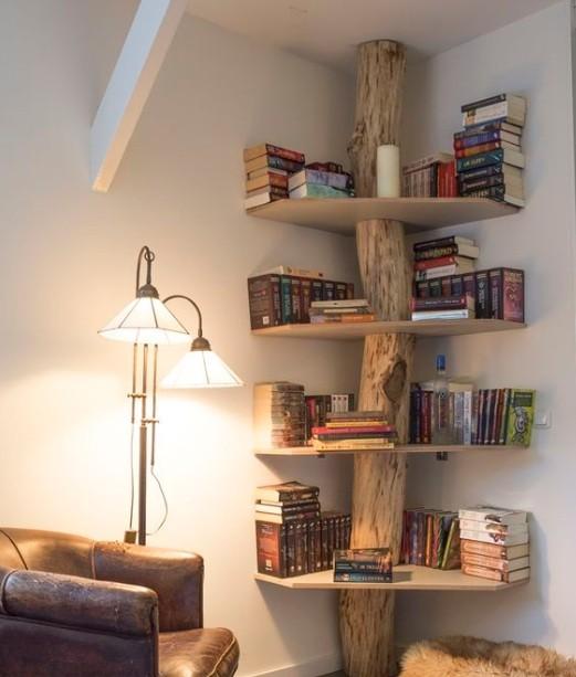 cool corner shelf ideas | home interiors