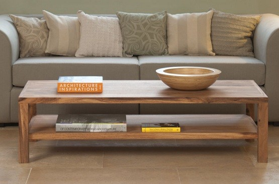 Solid wood standard coffee table dimensions