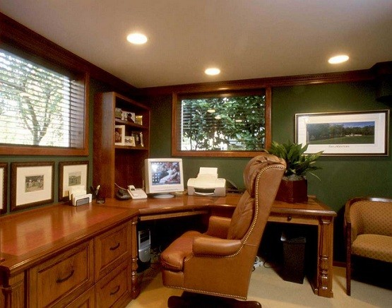 Custom wooden desk for home office