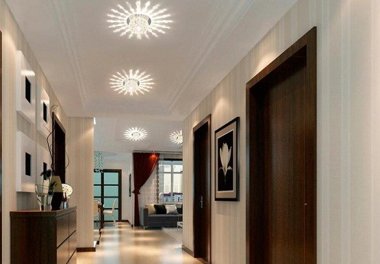 Modern Hallway Furniture Decor With Beautiful Lighting