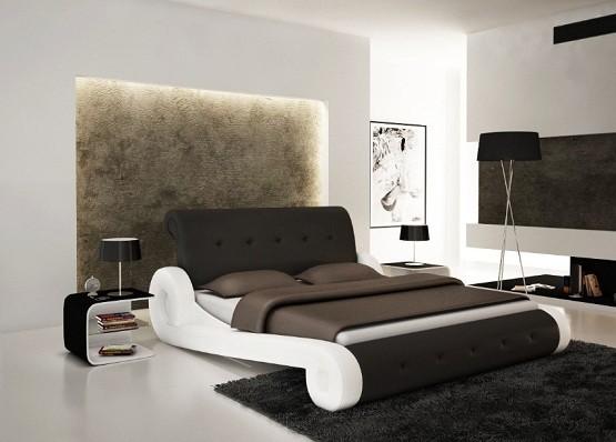 Unique bed frames design with elegant color combinations