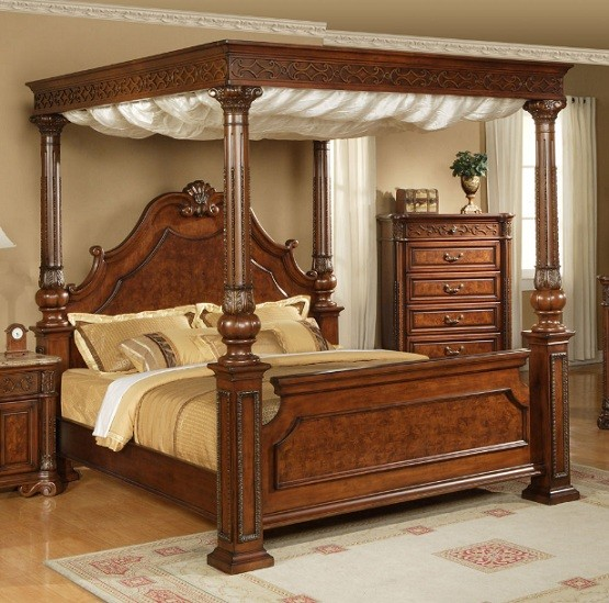 Best Wood Canopy Bed Ideas to Add More Classy Your Bedroom | Home Interiors PA37