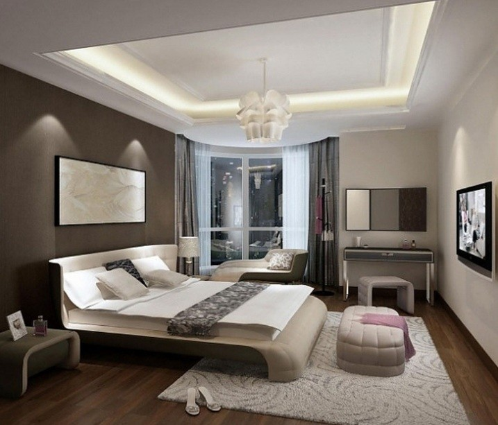Dark Brown Accent Wall Color For Bedroom