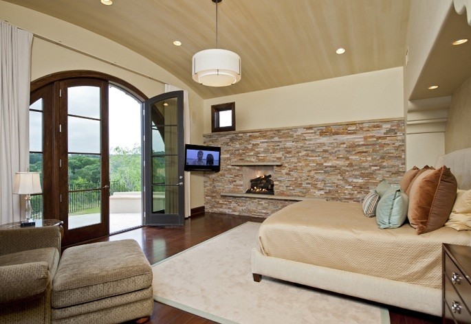 Light Brown Accent Wall Color For Bedroom