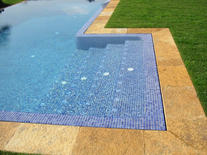 Decorative pool tiles ideas for contemporary pool design