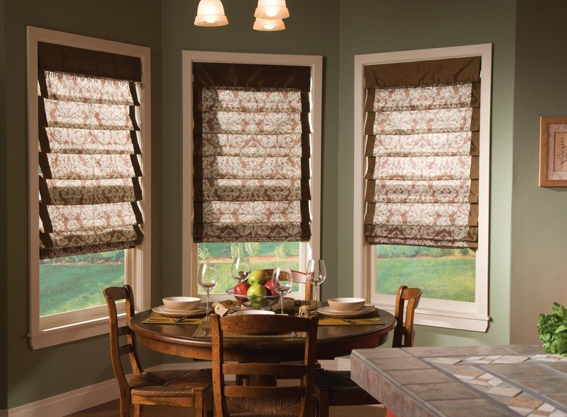 Motorized window shades for dining room | Home Interiors