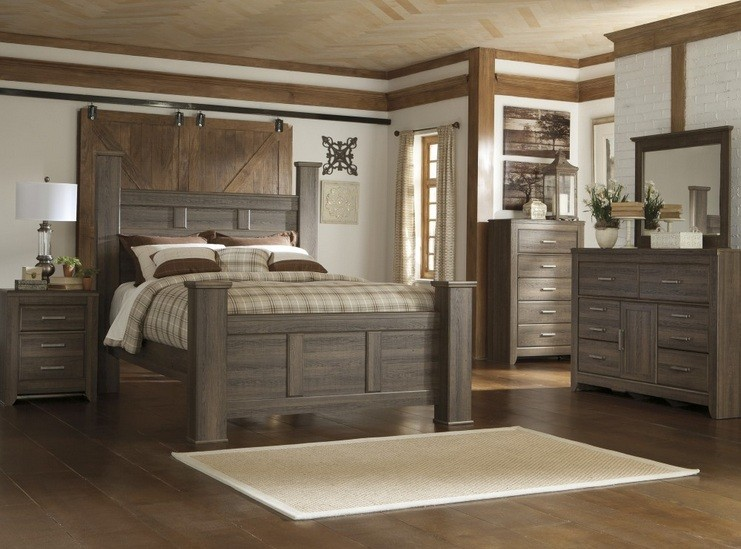 Western Bedroom Furniture Sets Complate With Dresser And Decorative Barn Doors Home Interiors