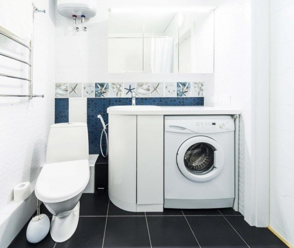 Superb It Is Advisable To Go With White Cupboards (if You Decide To Add One In The  Room) And White Laundry Baskets. Together With The White Shelves, ...