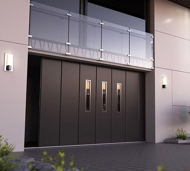 Modern Garage Doors In An Astonishing Protection: Sliding Garage Door Metal Design For Security & Aesthetic