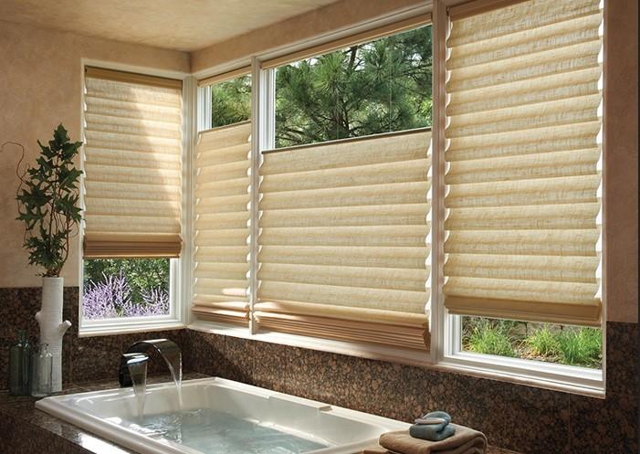 Roman Shade Bathroom Window Ideas