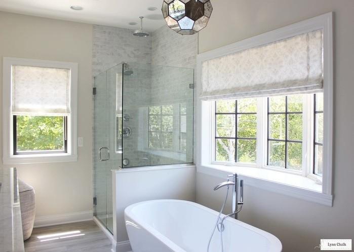 Roman Shade Bathroom Window Treatments