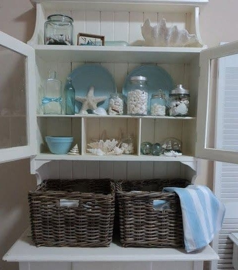 To Top It Off, You Can Add Ship In Bottles And Blue Crockery To Make Your Laundry  Room Even More Sea Like.