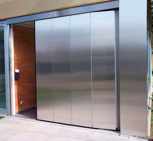 sliding garage door metal for small garage with automatic control - Sliding Garage Doors