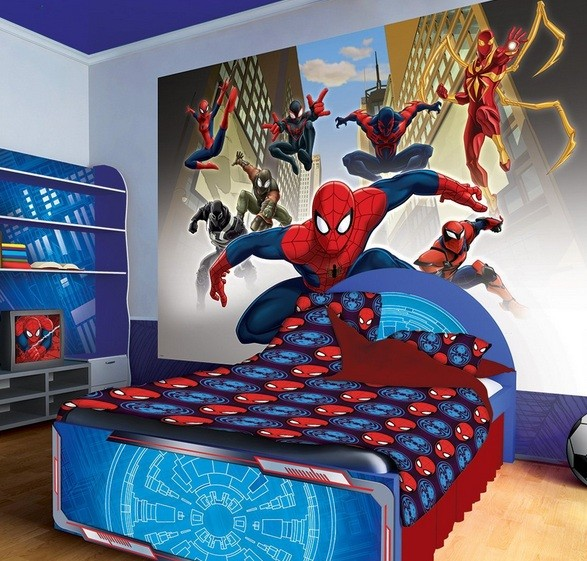 Spiderman Wallpaper For Bedroom: Spiderman Bedroom Ideas With Marvel Spiderman Group