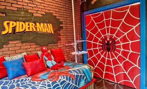 20 Spiderman Bedroom Ideas For Boys Room » Spiderman Bedroom Ideas With  Spiderman Wall Painting