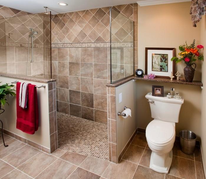 Half Glass Small Walk In Shower No Door Home Interiors