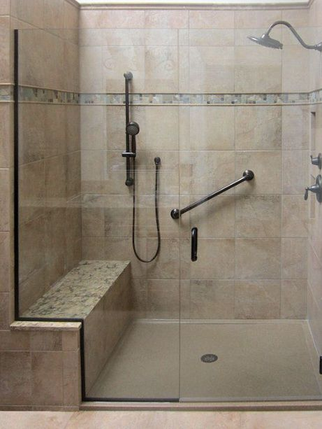 Walk In Shower With Seat And Grab Bar