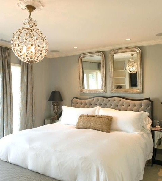 Wall decor above curved headboard ideas home interiors - Above the headboard decorating ...