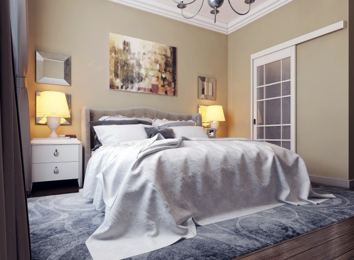 Wall Decor Above Curved Headboard