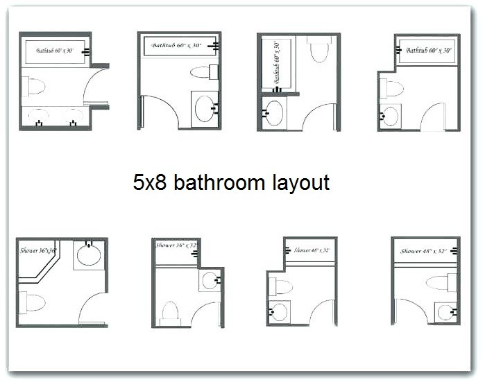 What Best 5x8 Bathroom Layout To