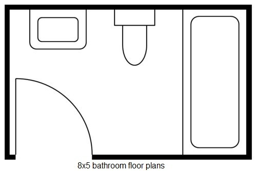 8X5 Bathroom Floor Plans and Remodeling