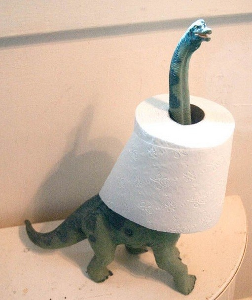 Dinosaur Paper Towel Holder Bathroom Decor Accessories