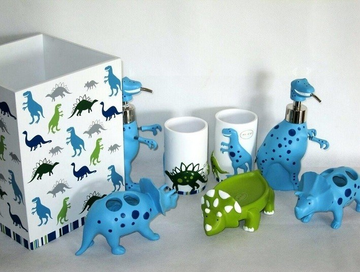 Dinosaur Soap Dispenser Complete Set