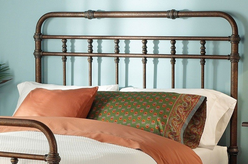Antique Metal Headboards Design for Comfort Bedroom Decorations